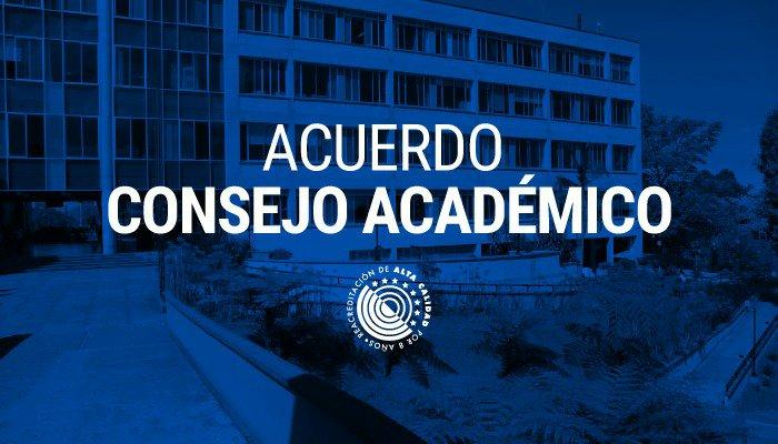 Acuerdo del Consejo Académico modifica calendario de inicio y finalización de actividades 2021