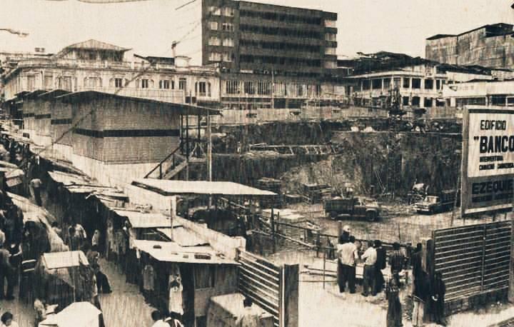 Construccion del Edificio del Banco Cafetero sin fecha archivo la patria