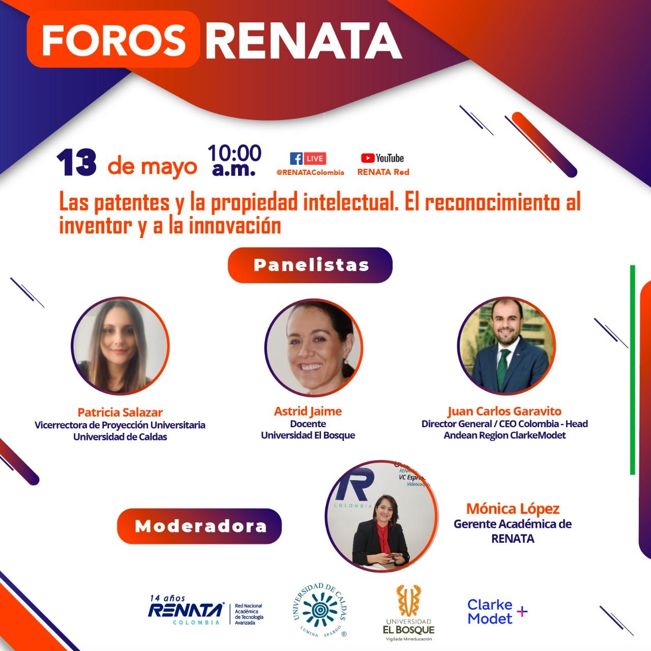 Foros RENATA: Las patentes y la propiedad intelectual. El reconocimiento al inventor y a la innovación