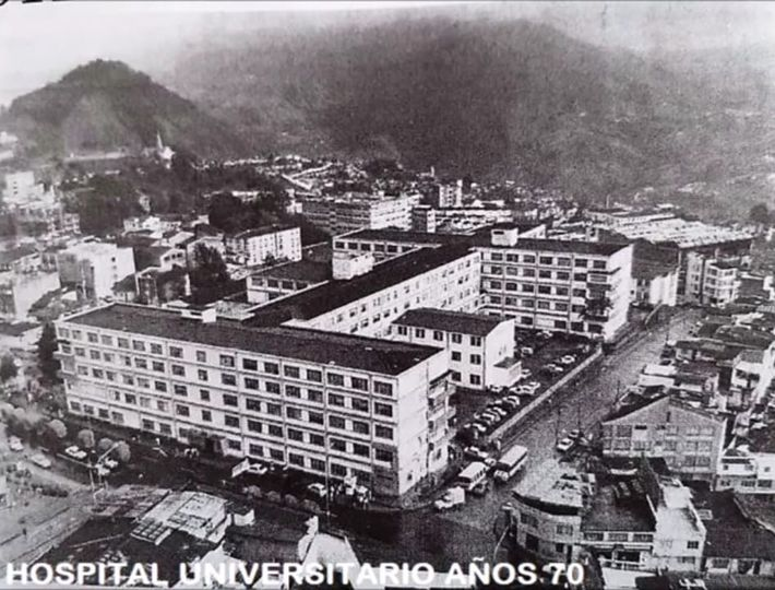 Hospital universitario de Caldas año 1970