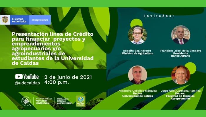 Ministro de Agricultura y Presidente del Banco Agrario se reunirán con estudiantes de la Universidad de Caldas