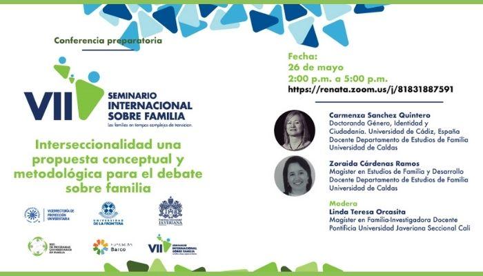 """Participe en la conferencia """"Interseccionalidad una propuesta conceptual y metodológica para el debate sobre familia"""""""