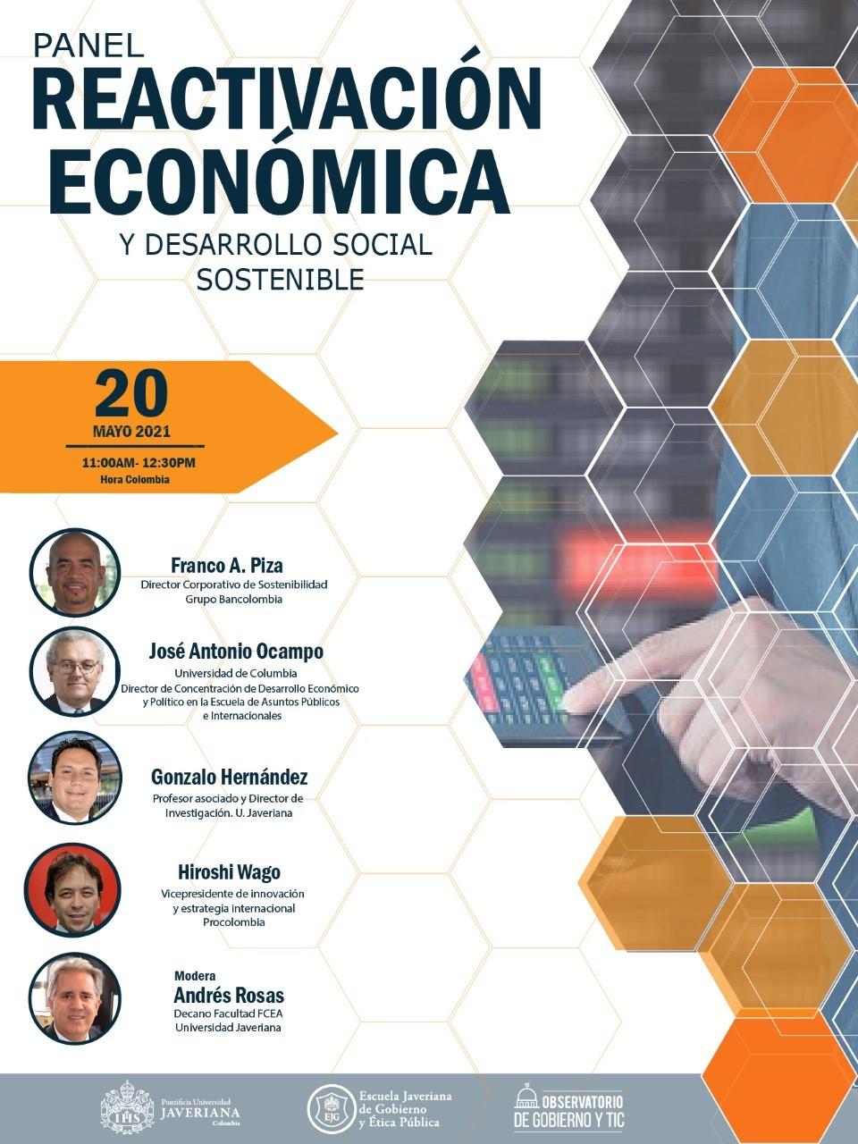 """Panel """"Reactivación Económica y Desarrollo Social Sostenible"""""""