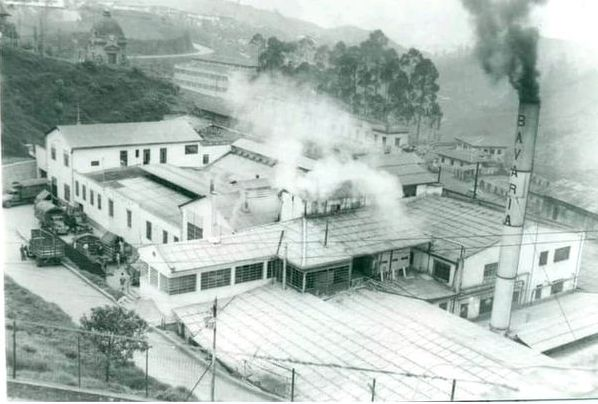 antigua fábrica Bavaria cuando aún se encontraba en funcionamiento