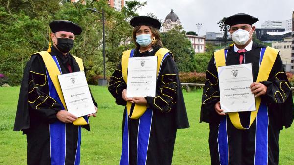 ¡Felicitaciones a los primeros Doctores en Ciencias Cognitivas de la UAM y de Colombia!