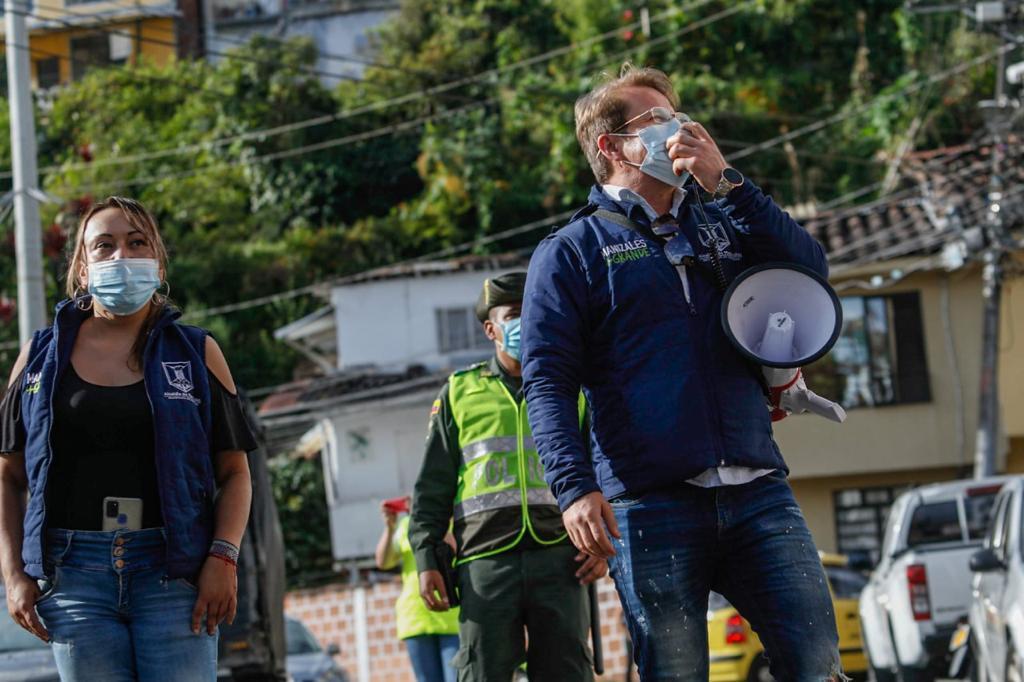 Alcaldía realizó jornada de educación ambiental y cultura ciudadana en el barrio Granjas y Viviendas.