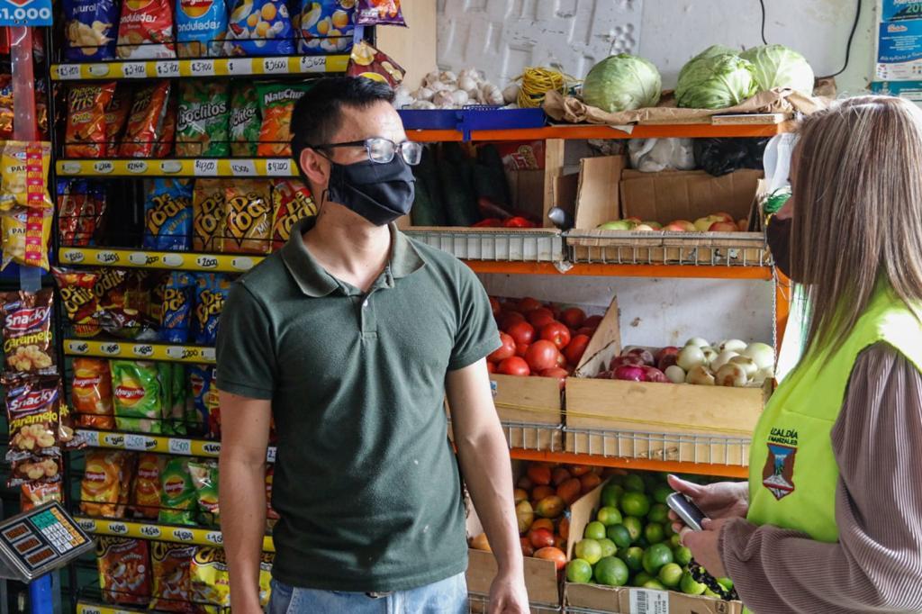 Cuidado con la COVID en tu tienda es la campaña de prevención adelantada por la Secretaría de Gobierno entre los tenderos de la ciudad.