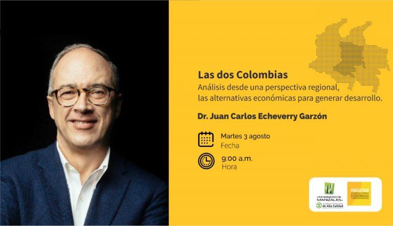 """""""Las dos Colombias, análisis desde una perspectiva regional"""" será la conferencia que ofrecerá el precandidato presidencial Juan Carlos Echeverry este martes en la Umanizales"""
