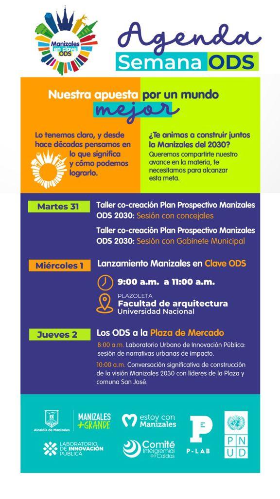 A partir de mañana, Manizales entrará en clave de ODS. Programa de Naciones Unidas para el Desarrollo ya está en la ciudad