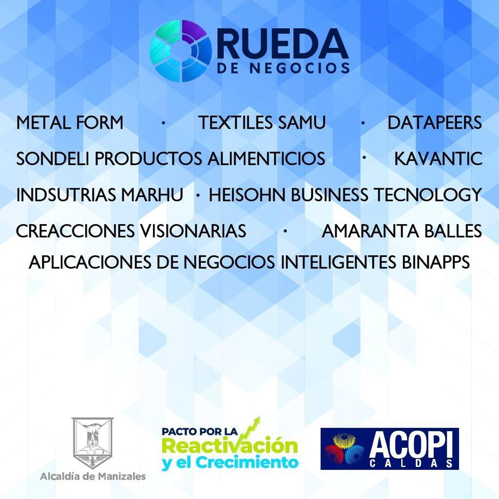 Comenzó Rueda de Negocios, el programa de la Alcaldía para que empresas de Manizales encuentren a sus clientes