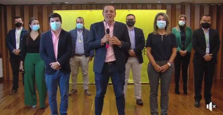 El alcalde Carlos Mario Marín Correa se reúne con representantes de los bancos