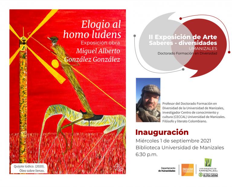 El profesor Miguel Alberto González inaugura este miércoles una exposición de pintura en la Biblioteca de la UManizales