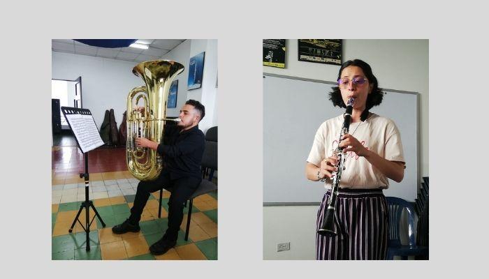Estudiantes de los programas de música y artes plásticas reciben clases en alternancia