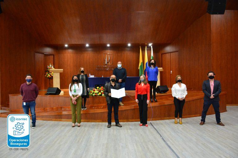 Icontec renueva la certificación de la UManizales por el desarrollo de operaciones bioseguras