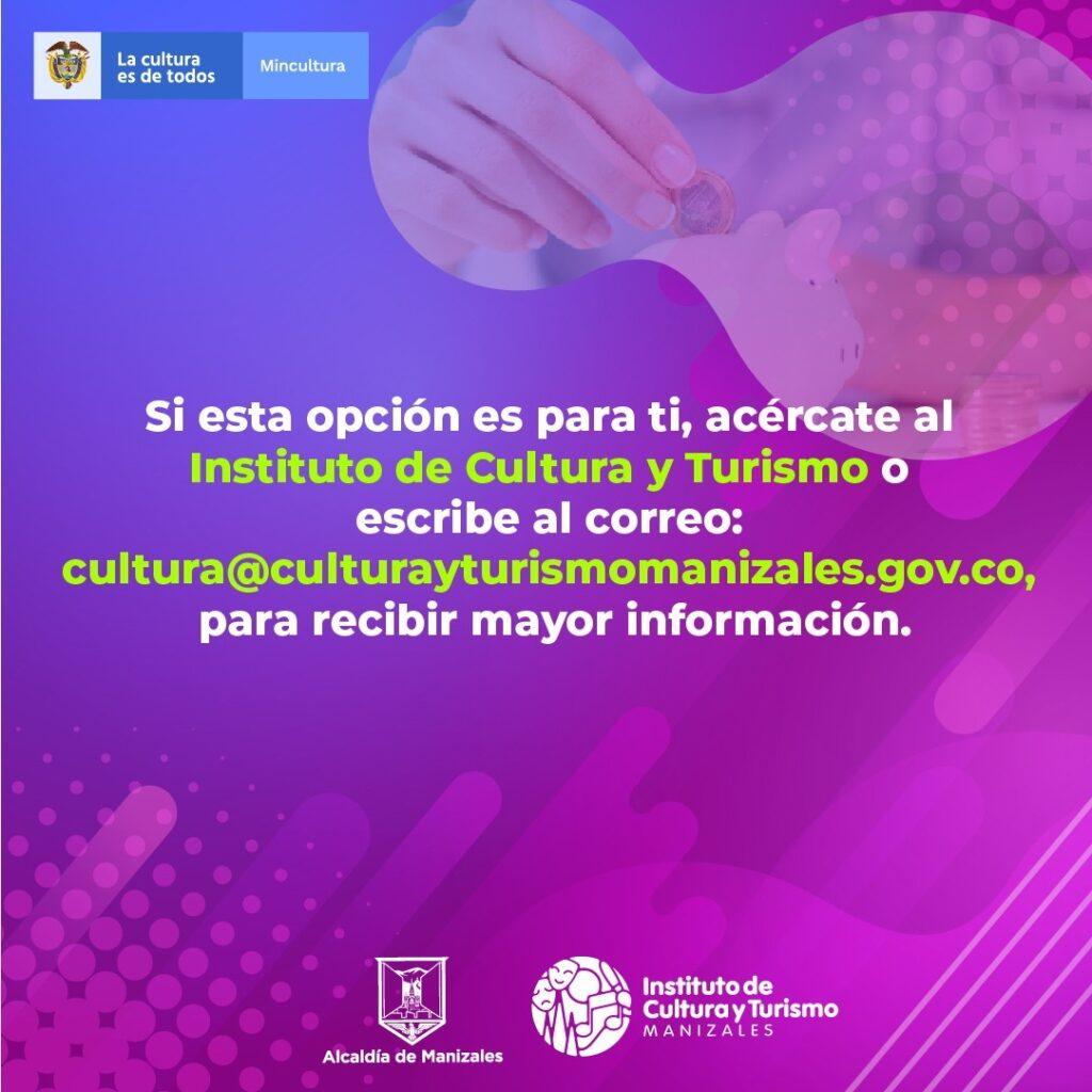 Instituto de Cultura y Turismo invita a gestores y creadores culturales a acceder a la convocatoria BEPS