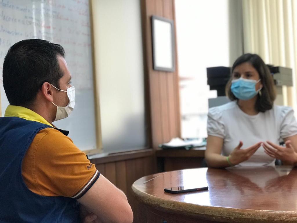 La directora de la Unidad de Gestión del Riesgo (UGR), Alexa Morales, se reunió con el director de la UGR de Pereira