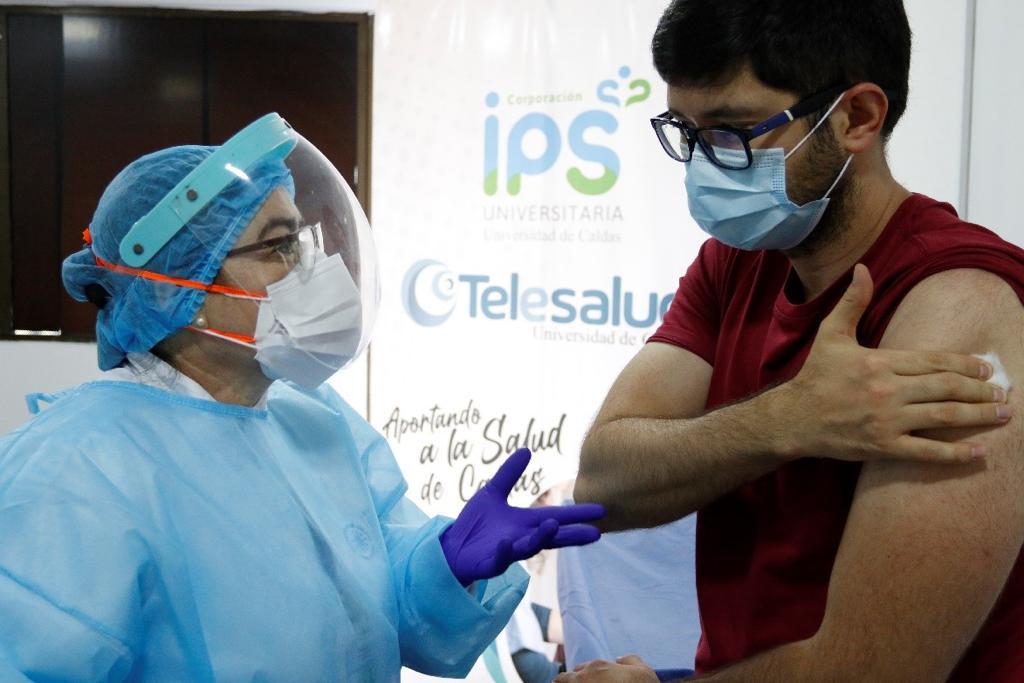 Manizales cuenta con 12 mil 500 vacunas para la aplicación de segundas dosis contra la COVID-19.