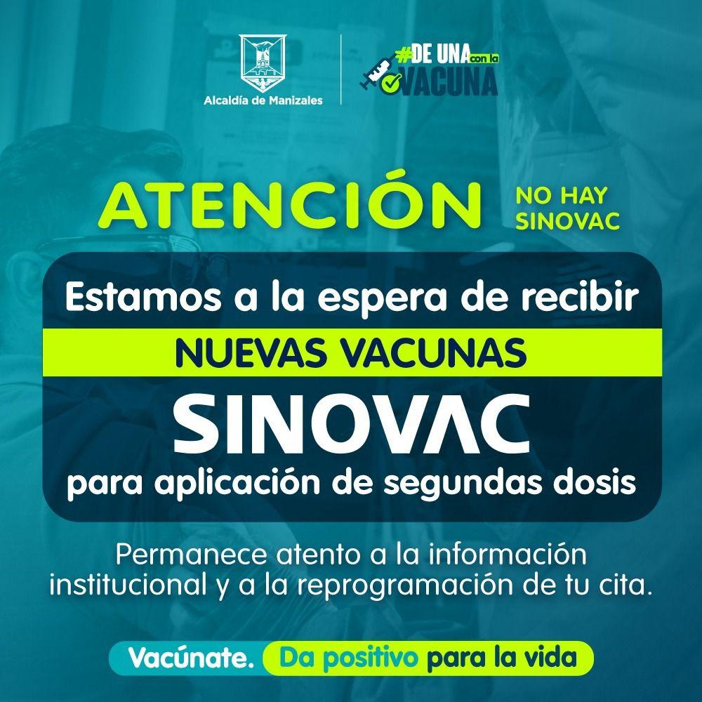 Manizales, preparada y a la espera de la llegada al país de vacunas Sinovac
