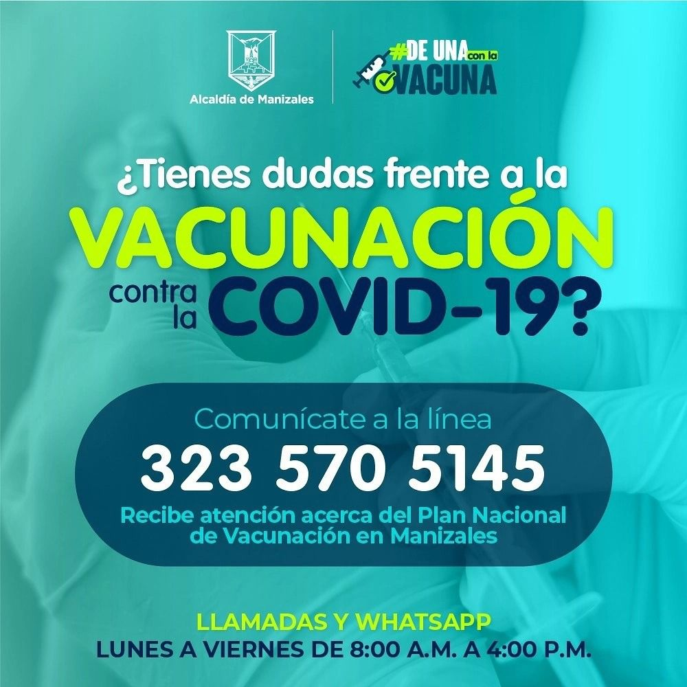 Manizales recibió 12 mil 366 vacunas de Pfizer y Moderna para aplicación de primeras dosis