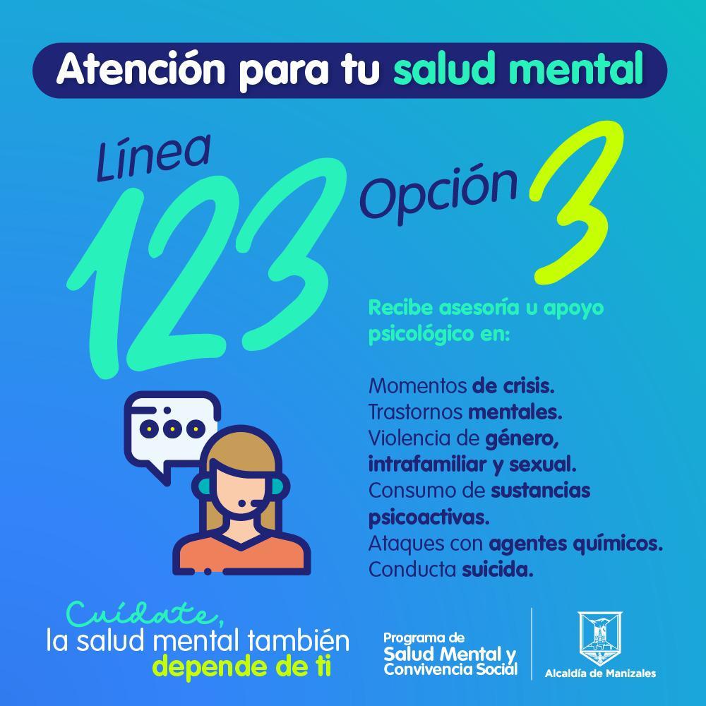 Secretaría de Salud recuerda la Línea 123 para atender casos de salud mental