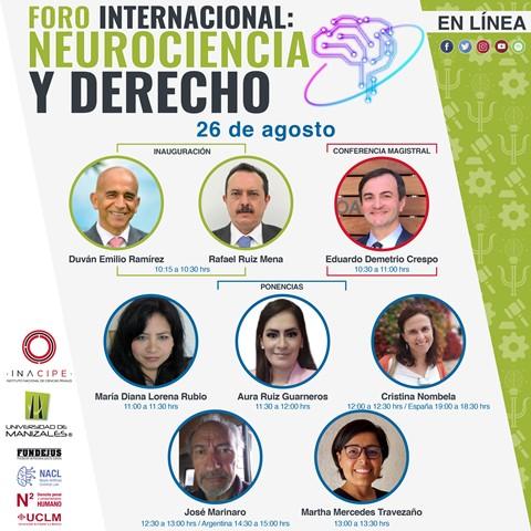 """UManizales desarrolla este jueves el """"Foro Internacional: Neurociencia y Derecho"""" dirigido a toda la ciudadanía"""