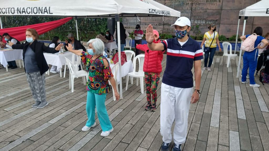 Adultos mayores de Manizales disfrutaron del primer día del Encuentro de Envejecimiento Activo.