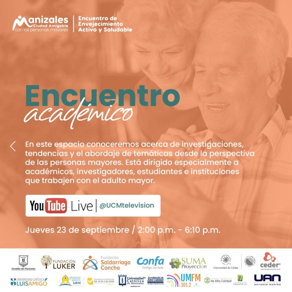 El 22, 23 y 24 de septiembre, Manizales más amigable con las personas mayores