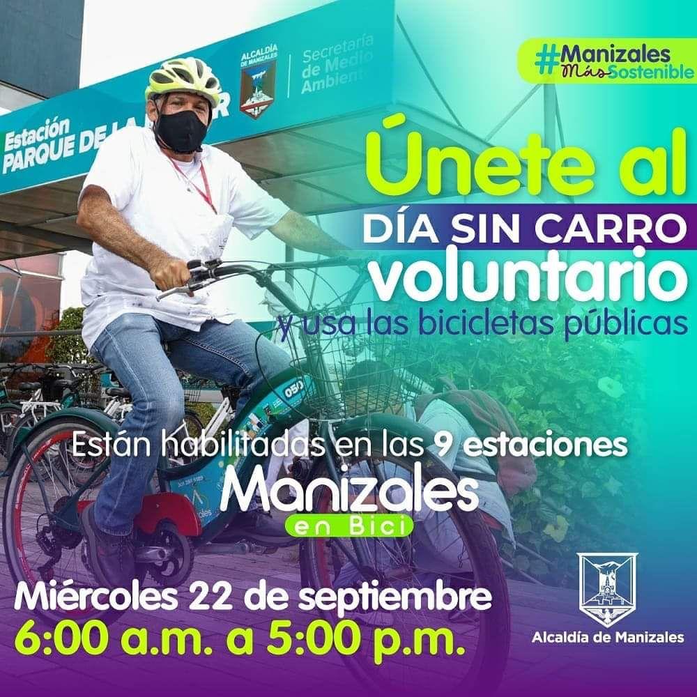 Hoy se realizarán cuatro caravanas de bicicletas con motivo del Día sin Carro Voluntario