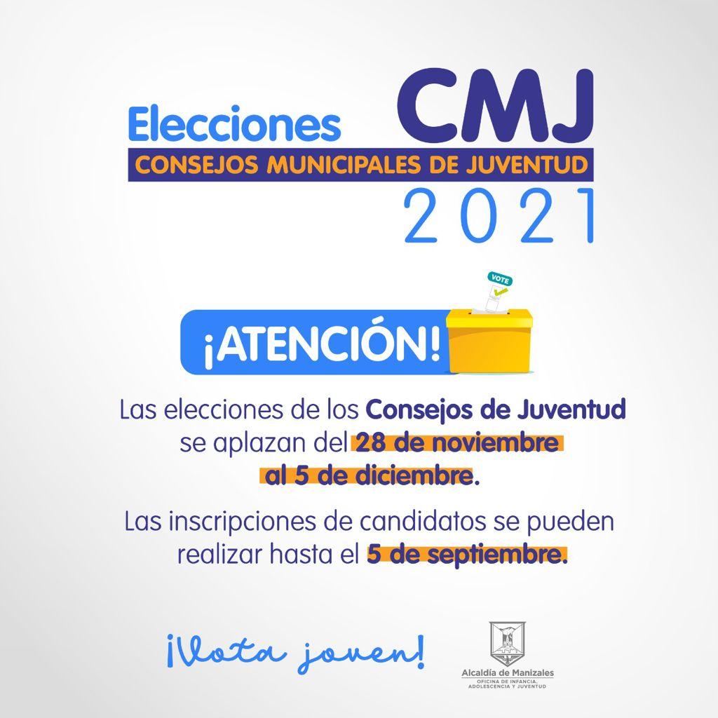 Las elecciones de los Consejos Municipales de Juventud, que estaban programadas para noviembre, se aplazaron al próximo 5 de diciembre.