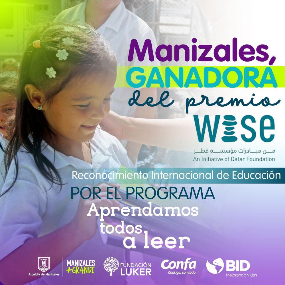 Manizales, ganadora del Wise Award 2021, el premio más importante del mundo en innovación educativa