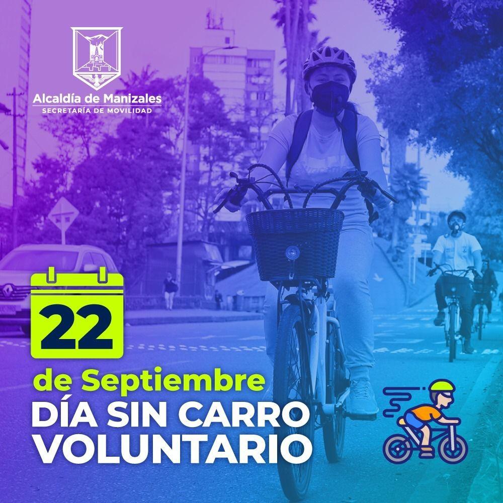 Únase al Día sin Carro Voluntario este 22 de septiembre, y dele un respiro al medioambiente.