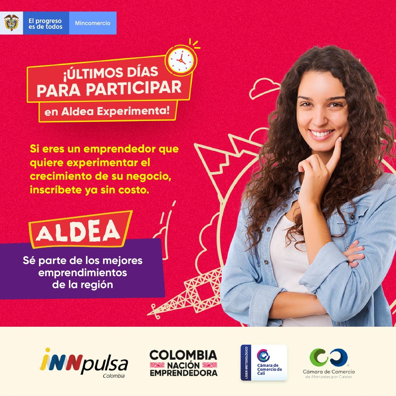 convocatoria del programa ALDEA de iNNpulsa Colombia, la cual estará abierta hasta el 10 de octubre.