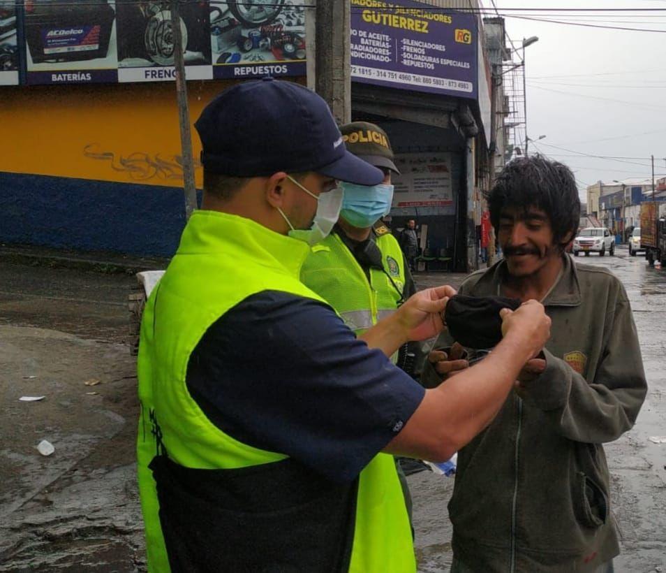 operativos de seguridad y convivencia en el Centro de Manizales.